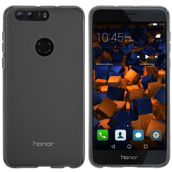 TPU Hülle schwarz transparent für Huawei Honor 8
