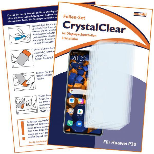 Displayschutzfolie 6 Stck. CrystalClear für Huawei P30