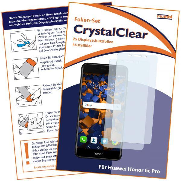 Displayschutzfolie 2 Stck. CrystalClear für Huawei Honor 6C Pro