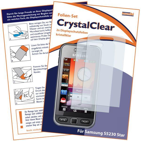 Displayschutzfolie 2 Stck. CrystalClear für Samsung S5230 Star