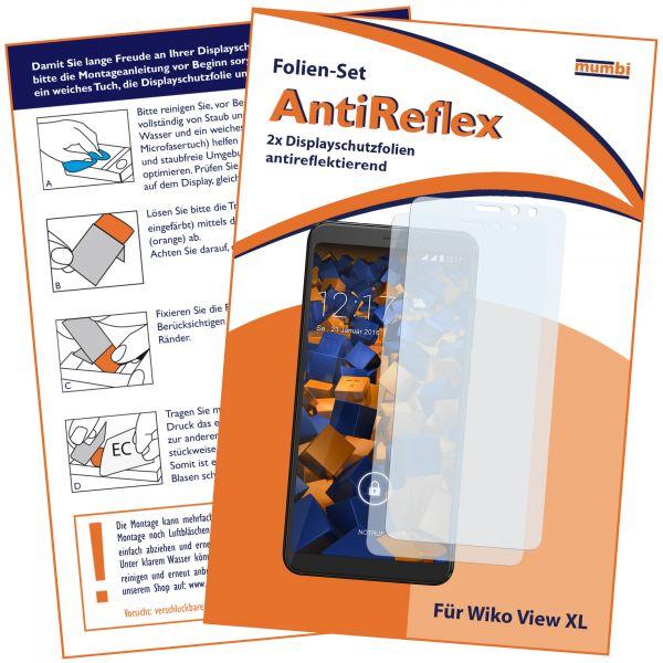 Displayschutzfolie 2 Stck. AntiReflex für Wiko View XL