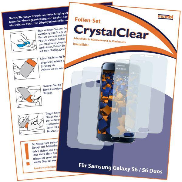 Displayschutzfolie 4 Stck. CrystalClear für Samsung Galaxy S6 / S6 Duos (2x vorne und 2x hinten)