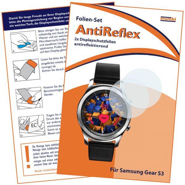 Displayschutzfolie 2 Stck. AntiReflex für Samsung Gear S3