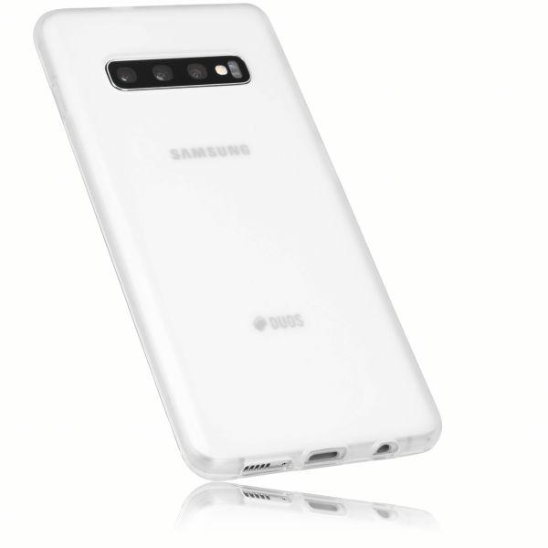 TPU Hülle weiß transparent für Samsung Galaxy S10 Plus