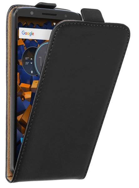 Flip Case Tasche schwarz für Motorola Moto G6