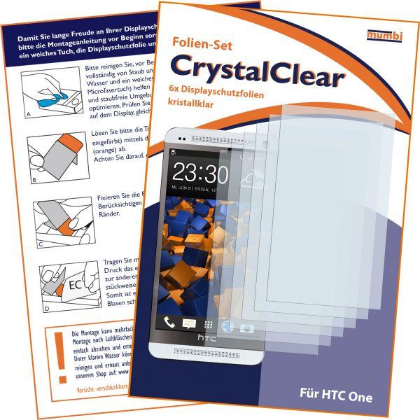 Displayschutzfolie 6 Stck. CrystalClear für HTC One
