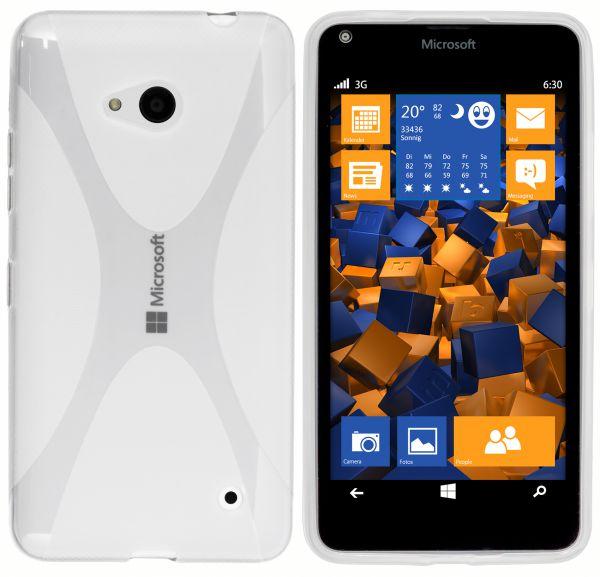TPU Hülle X-Design transparent weiß für Microsoft Lumia 640