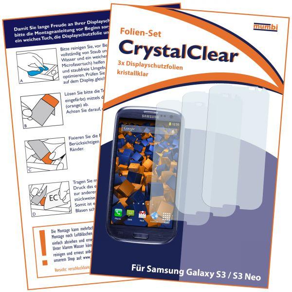 Displayschutzfolie 3 Stck. CrystalClear für Samsung Galaxy S3 / S3 Neo