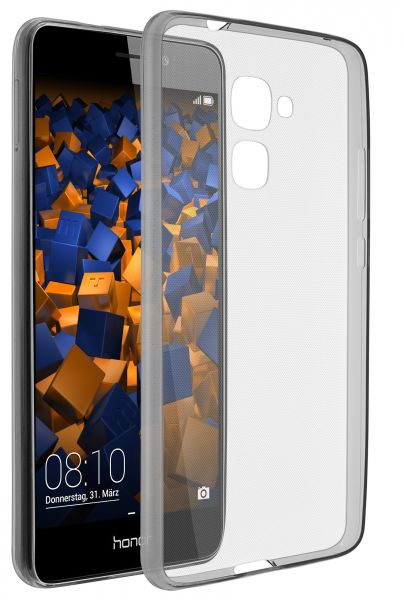 TPU Hülle Ultra Slim schwarz transparent für Huawei Honor 5C