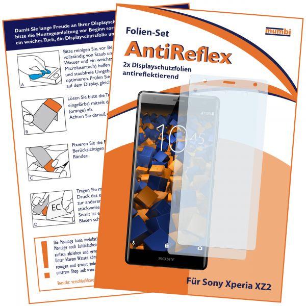 Displayschutzfolie 2 Stck. AntiReflex für Sony Xperia XZ2