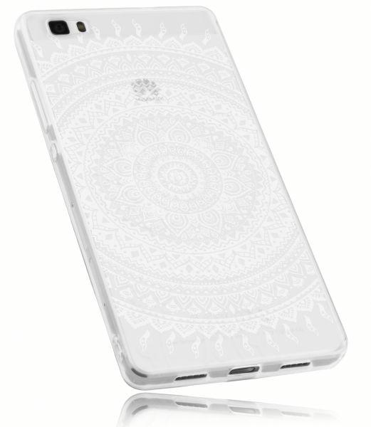 TPU Hülle transparent Motiv Mandala für Huawei P8 Lite (2015)