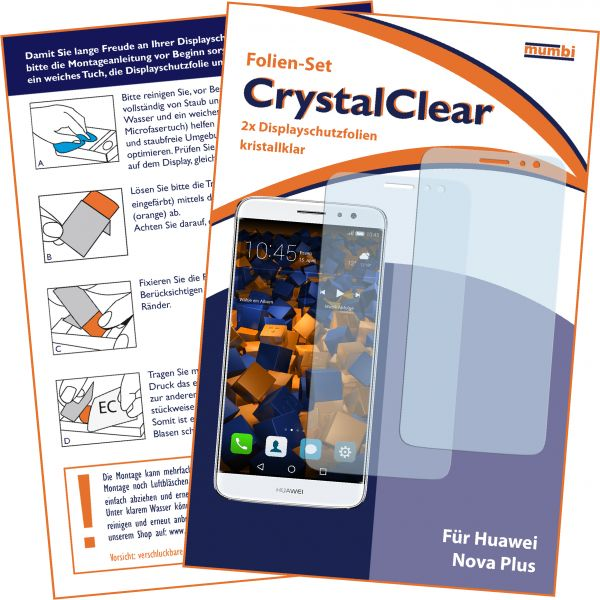 Displayschutzfolie 2 Stck. CrystalClear für Huawei Nova Plus