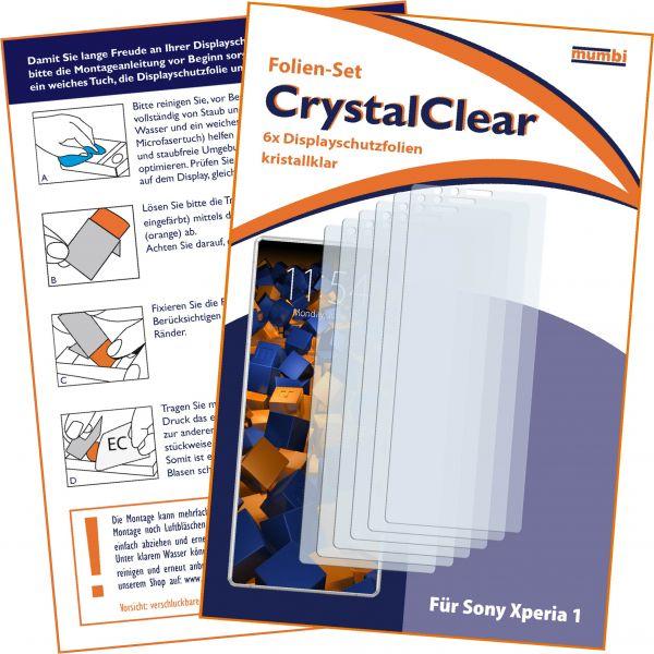Displayschutzfolie 6 Stck. CrystalClear für Sony Xperia 1
