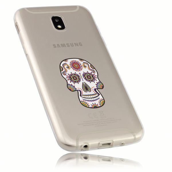 TPU Hülle Ultra Slim transparent Motiv Calavera weiß für Samsung Galaxy J5 (2017)