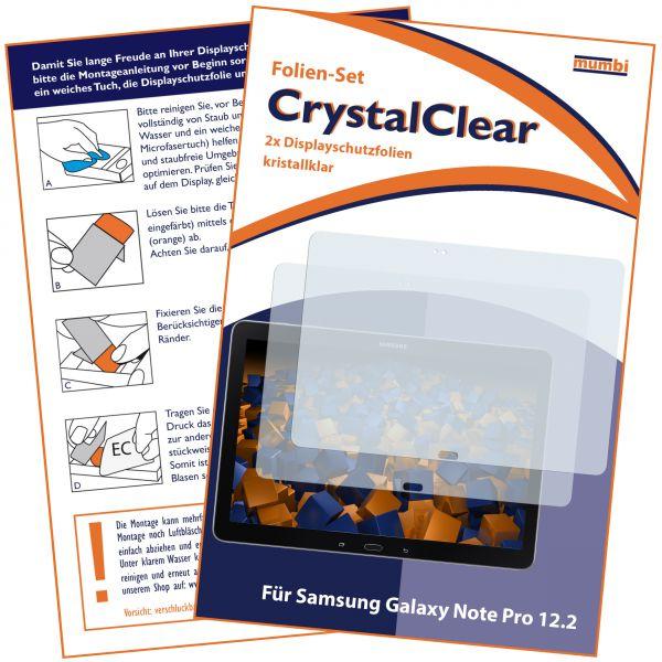 Displayschutzfolie 2 Stck. CrystalClear für Samsung Galaxy Note Pro