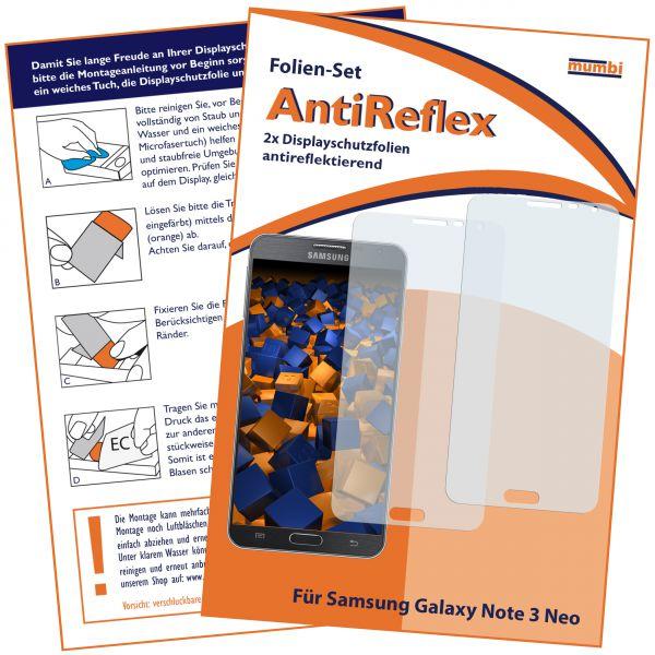 Displayschutzfolie 2 Stck. AntiReflex für Samsung Galaxy Note 3 Neo