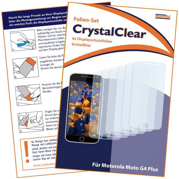 Displayschutzfolie 6 Stck. CrystalClear für Motorola Moto G4 Plus