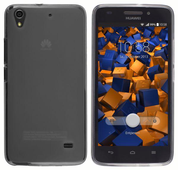 TPU Hülle transparent schwarz für Huawei Ascend G620s
