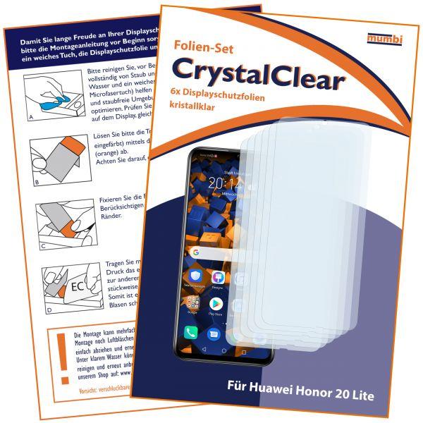 Displayschutzfolie 6 Stck. CrystalClear für Huawei Honor 20 Lite