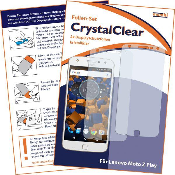 Displayschutzfolie 2 Stck. CrystalClear für Lenovo Moto Z Play