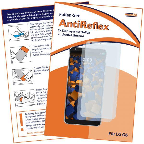 Displayschutzfolie 2 Stck. AntiReflex für LG G6