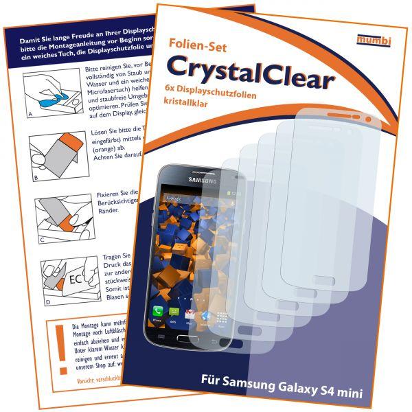 Displayschutzfolie 6 Stck. CrystalClear für Samsung Galaxy S4 Mini