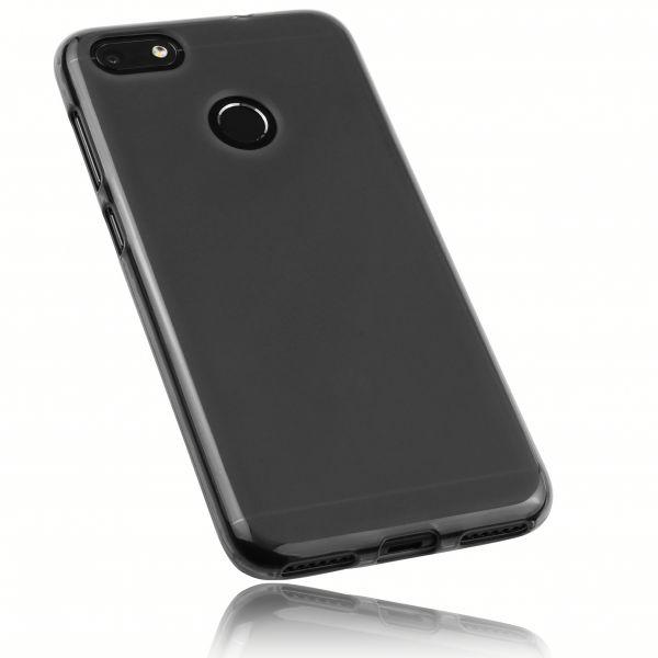 TPU Hülle schwarz transparent für Huawei Y6 Pro (2017) / P9 Lite mini