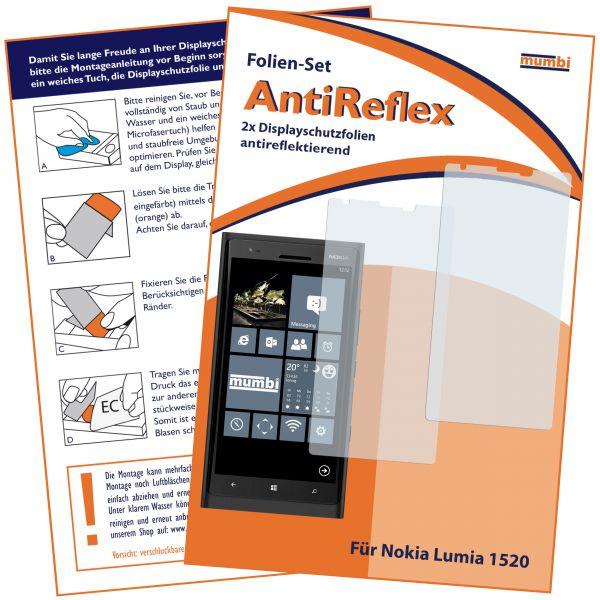 Displayschutzfolie 2 Stck. AntiReflex für Nokia Lumia 1520