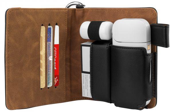 Bookstyle Tasche für IQOS-Holder, Pocket Charger, Cleaner und Tobacco Sticks