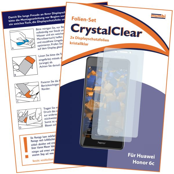 Displayschutzfolie 2 Stck. CrystalClear für Huawei Honor 6C