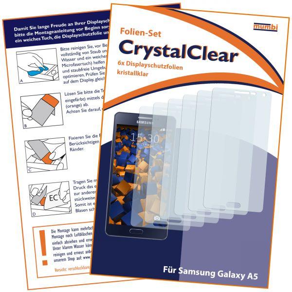 Displayschutzfolie 6 Stck. CrystalClear für Samsung Galaxy A5 (2015)