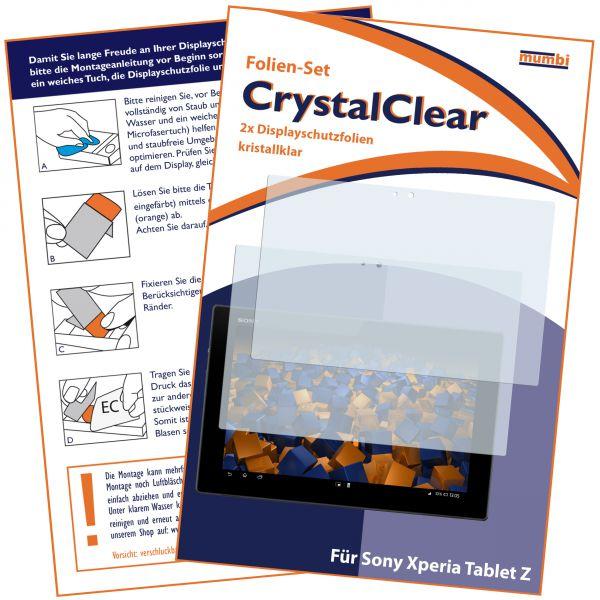 Displayschutzfolie 2 Stck. CrystalClear für Sony Xperia Tablet Z