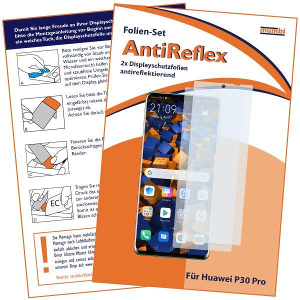 Displayschutzfolie 2 Stck. AntiReflex für Huawei P30 Pro
