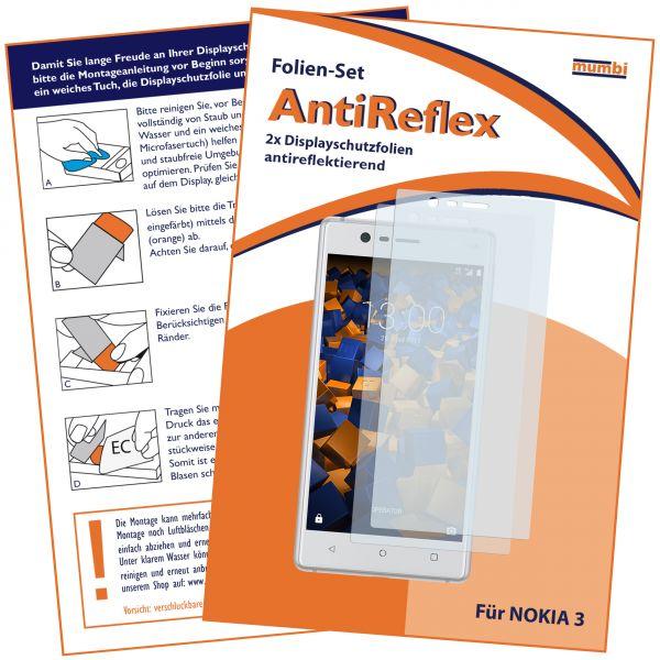 Displayschutzfolie 2 Stck. AntiReflex für Nokia 3