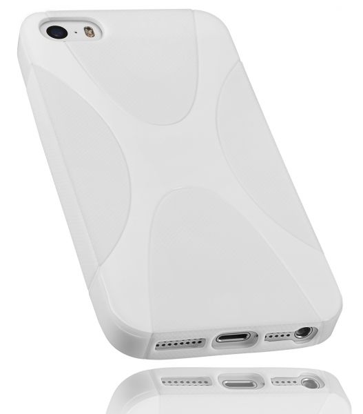 TPU Hülle weiß für Apple iPhone SE / 5 / 5s