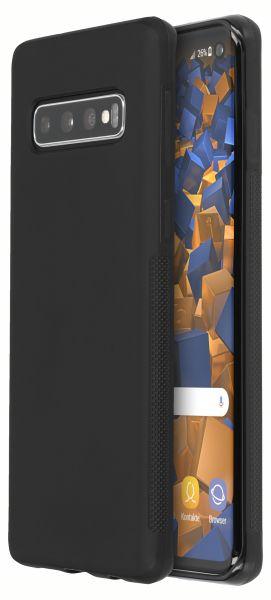 TPU Hülle double GRIP schwarz für Samsung Galaxy S10