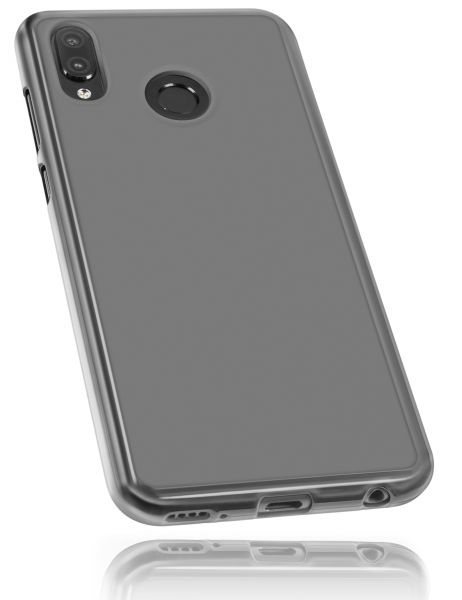 TPU Hülle schwarz transparent für Huawei Honor Play