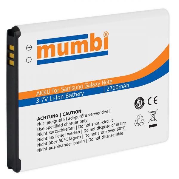 Ersatzakku Lithium-Ionen 2700 mAh (ohne NFC) für Samsung Galaxy Note N7000