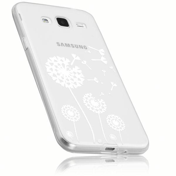 TPU Hülle weiß transparent Motiv Pusteblume für Samsung Galaxy J3 (2016)