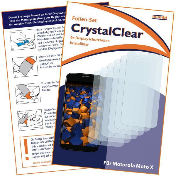 Displayschutzfolie 6 Stck. CrystalClear für Motorola Moto X