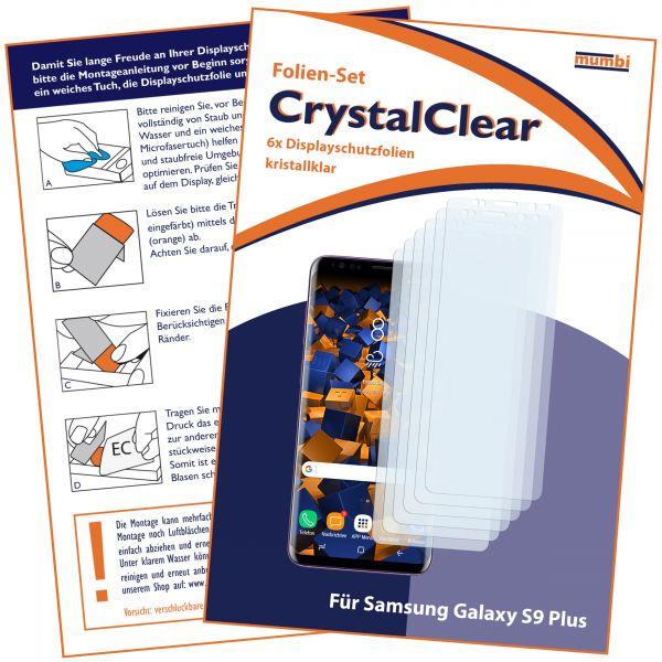 Displayschutzfolie 6 Stck. CrystalClear für Samsung Galaxy S9 Plus