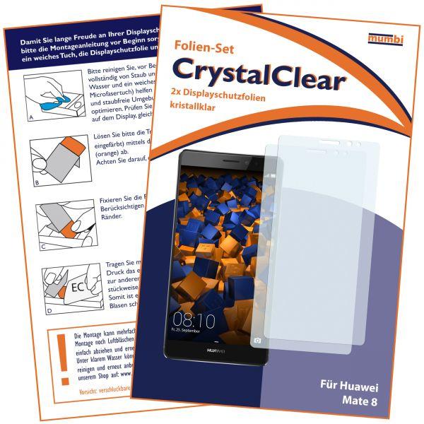 Displayschutzfolie 2 Stck. CrystalClear für Huawei Mate 8