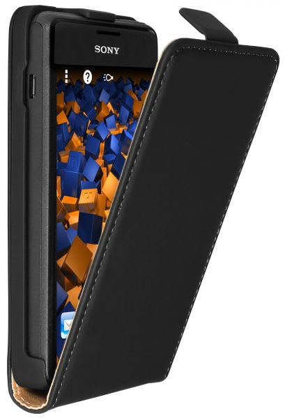 Flip Case Tasche schwarz für Sony Xperia E1 / E1 Dual