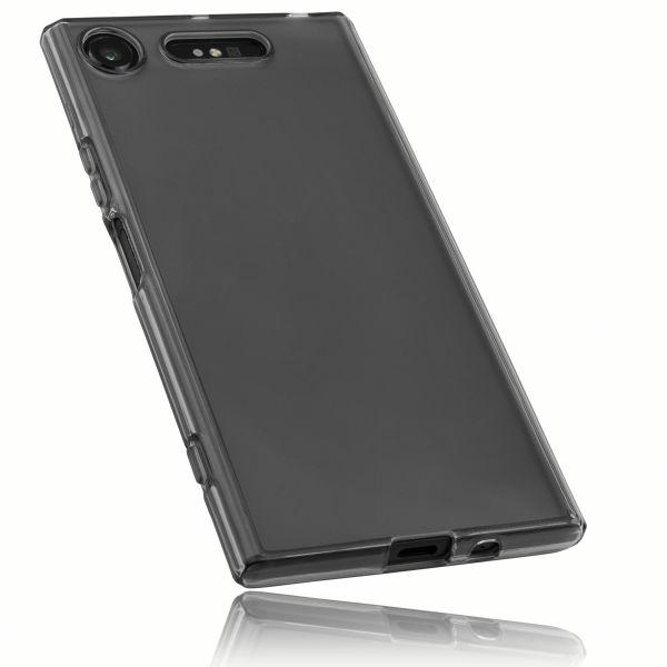 TPU Hülle schwarz transparent für Sony Xperia XZ1