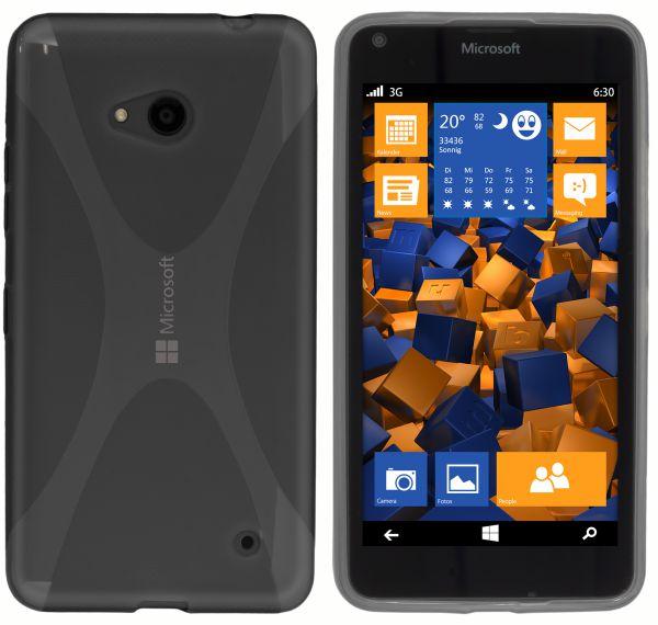 TPU Hülle X-Design schwarz transparent für Microsoft Lumia 640