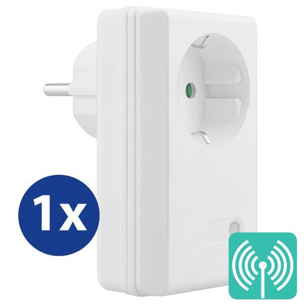 Erweiterungs Indoor Funksteckdose (4-Kanal) zum Set FS306 / FS300 / FS600 Plug & Play 3600W weiß