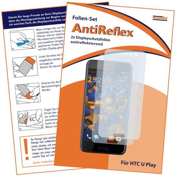 Displayschutzfolie 2 Stck. AntiReflex für HTC U Play