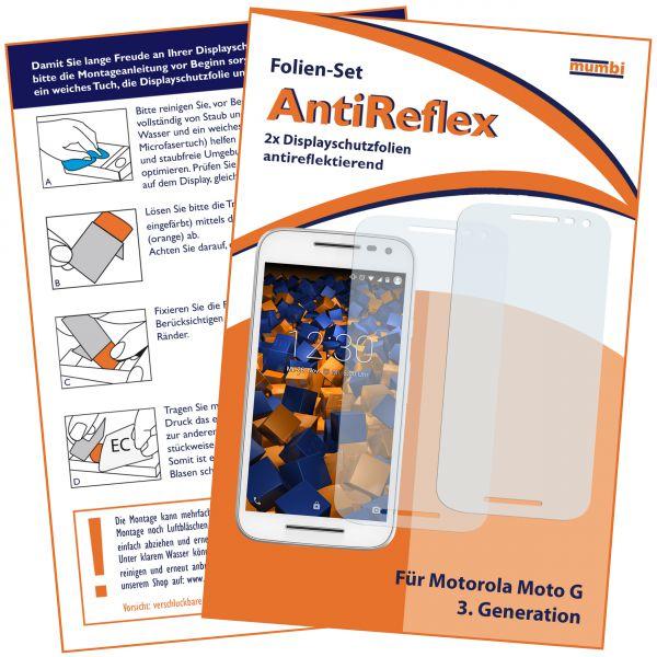 Displayschutzfolie 2 Stck. AntiReflex für Motorola Moto G 3. Generation