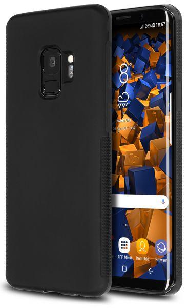 TPU Hülle double GRIP schwarz für Samsung Galaxy S9