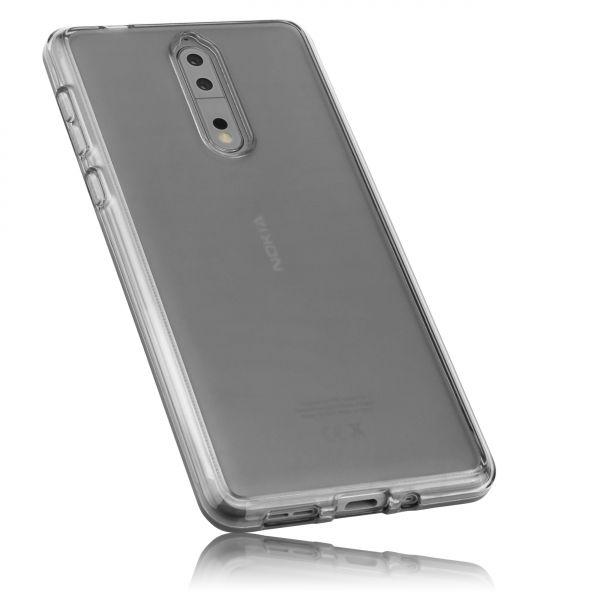 TPU Hülle schwarz transparent für Nokia 8